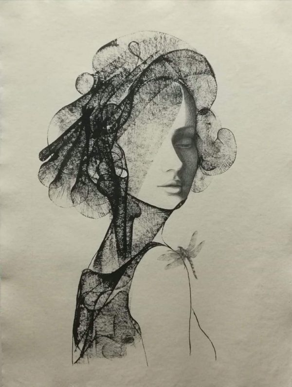 Woman with Dragonfly 1